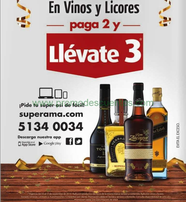 Ofertas del Buen Fin 2014 en Superama: 3x2 en botellas