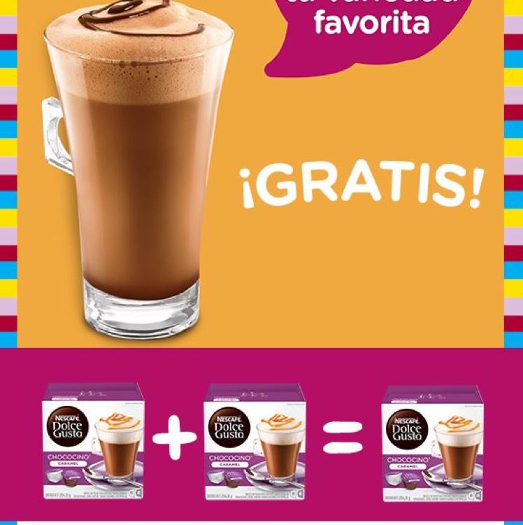 Dolce Gusto online: chocolates al 3x2 o gratis!! ($99 c/u)