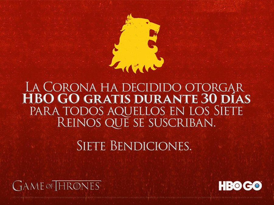 Google Play: HBO Go 30 días gratis al suscribirte a HBO Go