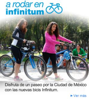 Infinitum (CDMX): Prestamo de bicis gratis los domingos por ser cliente
