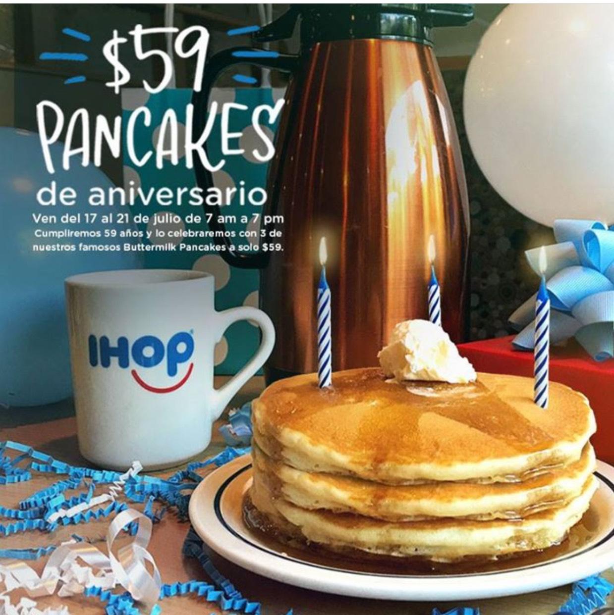 IHOP: 3 Buttermilk Pancakes