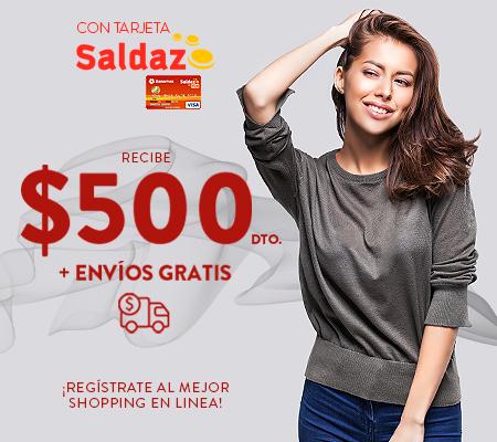 Privalia: $500 de descuento en compras de $1,000 ó más en la primera compra con Saldazo