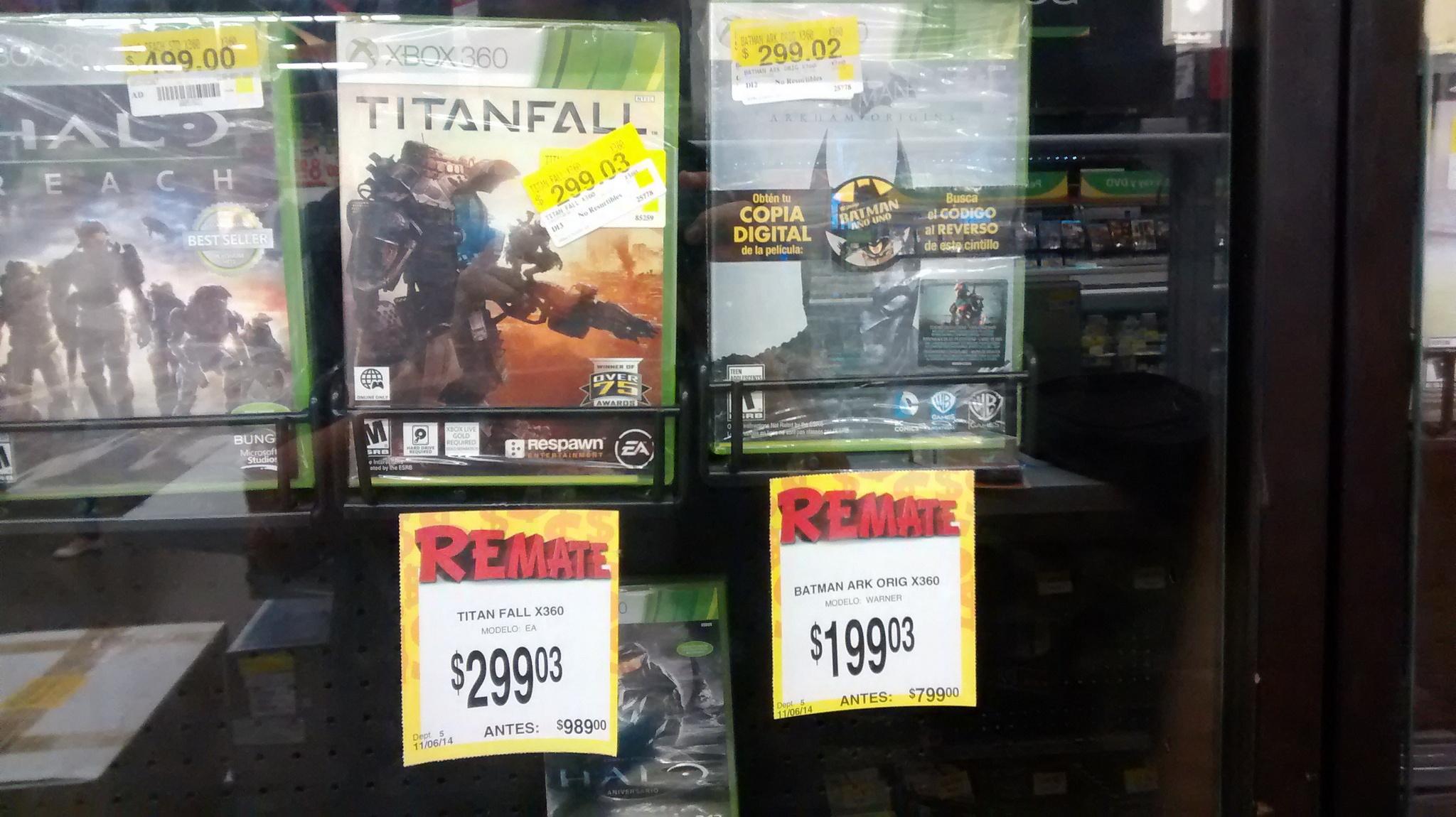 Bodega Aurrerá: Titanfall $299 y Batman: Arkham Origins $199