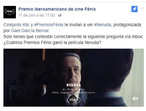 Cinepolis Klic: Cinépolis Klic y PremiosFénix te invitan a ver Neruda GRATIS