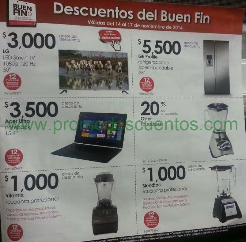 Folleto de ofertas del Buen Fin 2014 en Costco