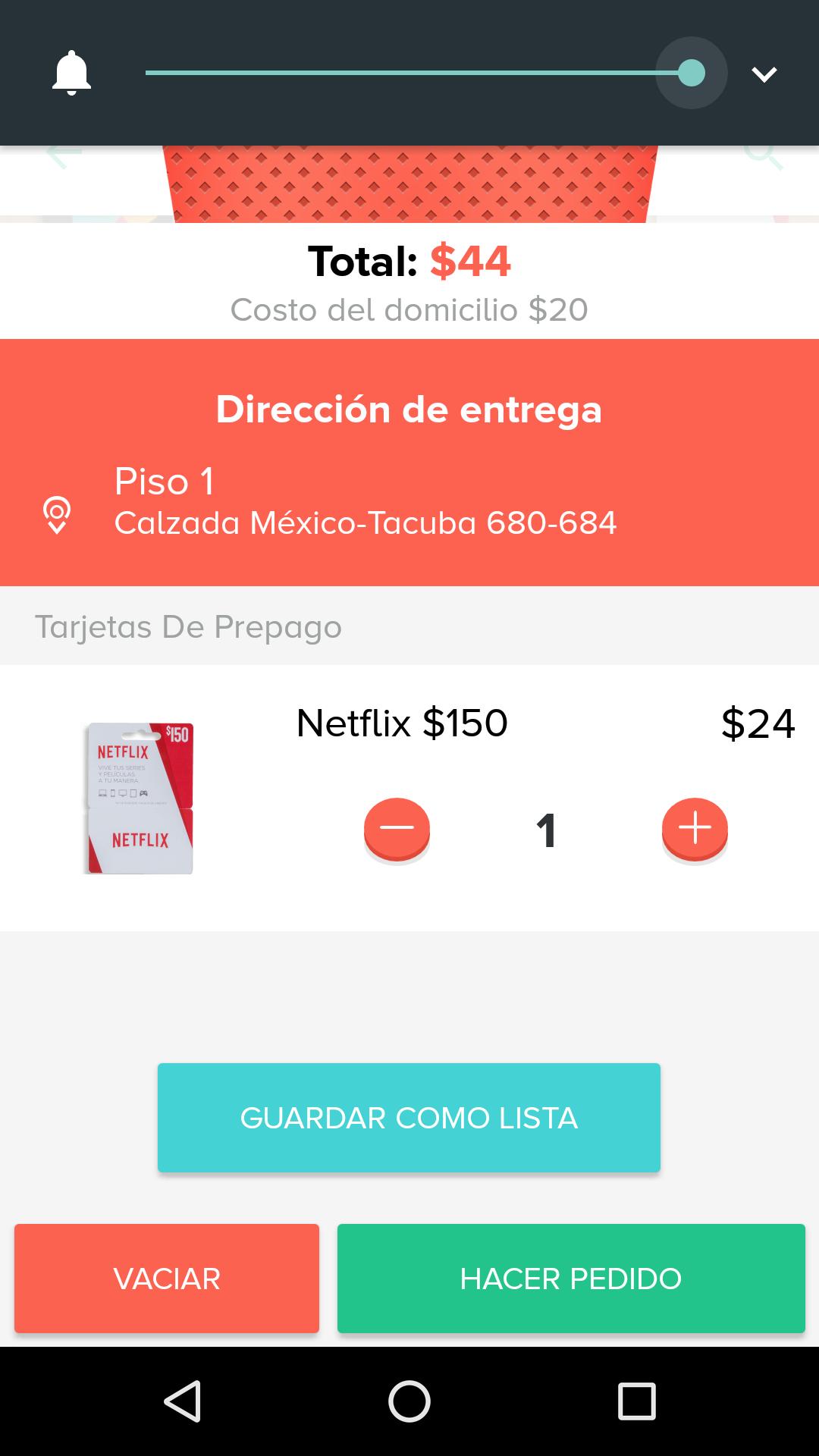 Rappi: Tarjeta Netflix 150