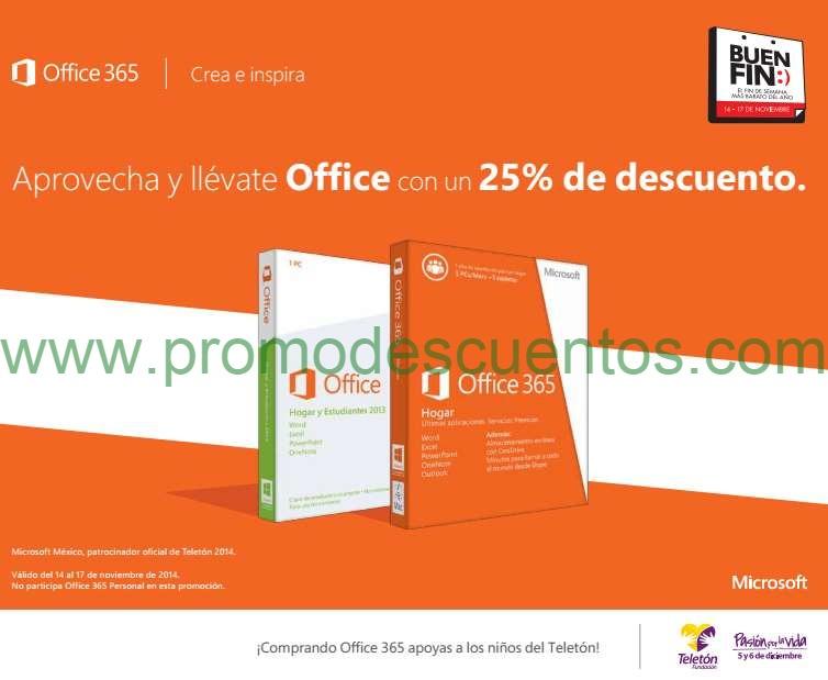 Ofertas del Buen Fin 2014 en Microsoft Store: 25% de descuento en Office y más