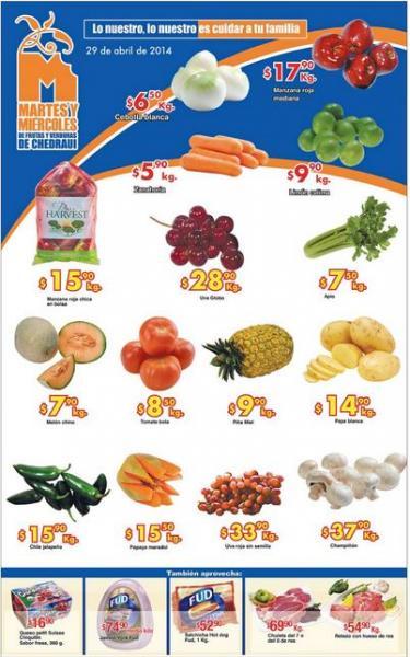 Ofertas de frutas y verduras en Chedraui 29 y 30 de abril: manzana $15.90 el kilo y más
