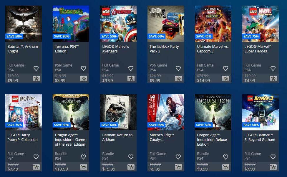 PSN Store: Flash Sale hasta el Lunes.