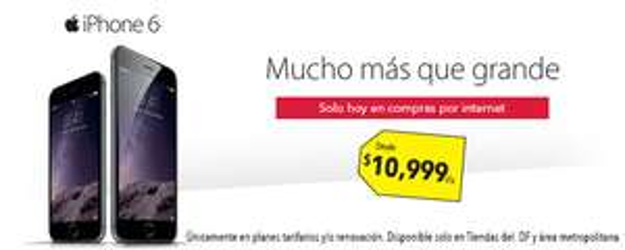 Best Buy: iPhone 6 y 6 plus telcel y Iusacell con $300 de bonificación por cada $1000 con Banamex
