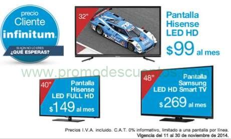 """Ofertas del Buen Fin en Tienda Telmex: Pantallas a muy buen precio (ejemplo Samsung LED Smart TV 48"""" $7,801)"""