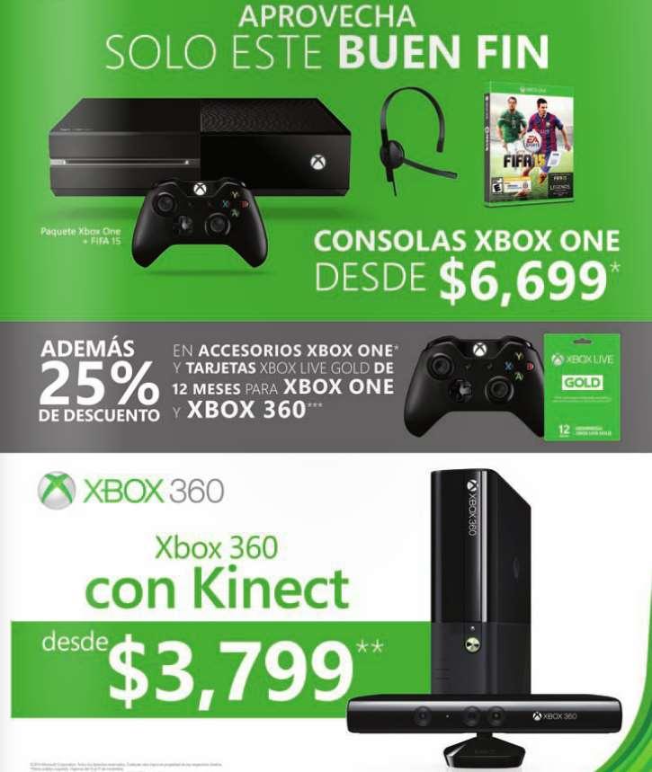 Promociones del Buen Fin 2014 para Xbox: 25% de descuento en accesorios y más