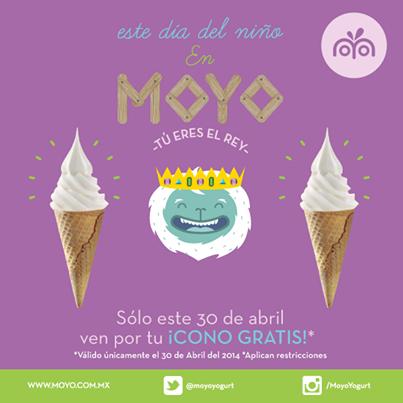 Moyo Frozen Yogurt: conos gratis el día del niño