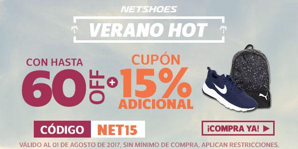 Netshoes: 15% de descuento extra en casi 7,000 productos
