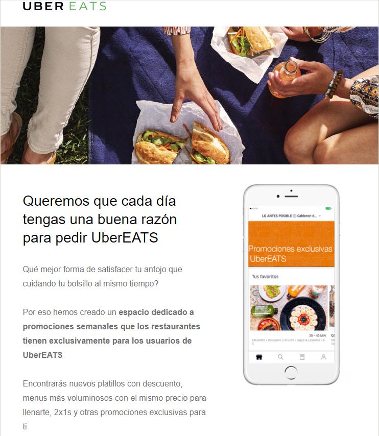 Uber Eats: 2 x 1 y Más Cada Semana