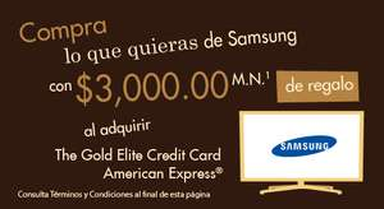 American Express: $3,000 de crédito para compudabo al solictar tarjeta