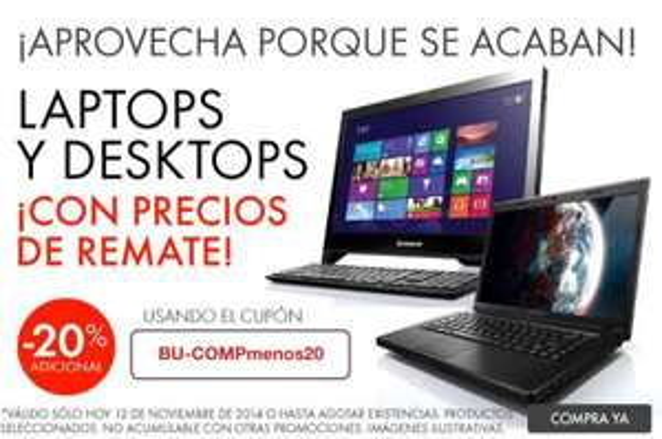 Linio: Laptops y Desktops Lenovo Súper Baratas