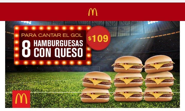 McDonald's: 8 hamburguesas con queso por $109 (valido el 26 de julio)
