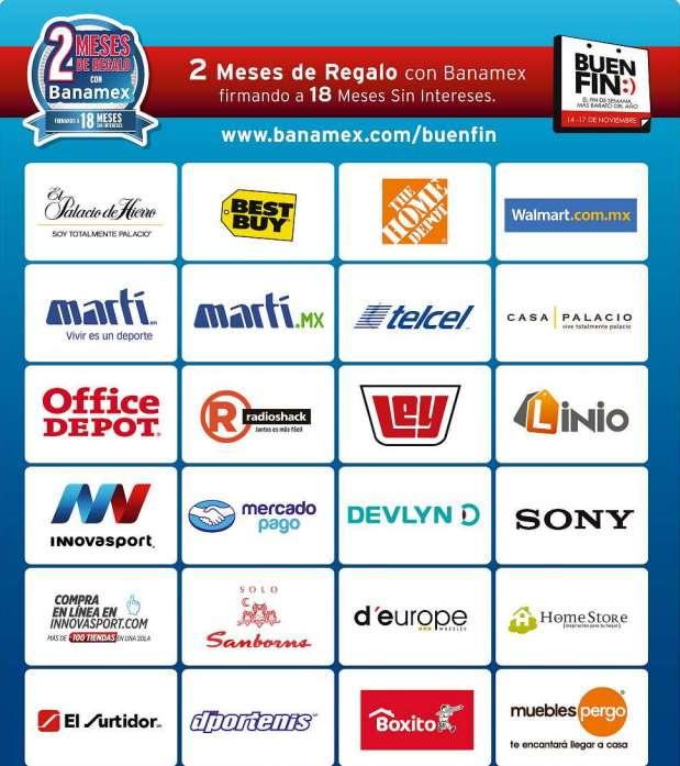 Promociones del Buen Fin 2014 con Banamex: lista de tiendas que dan bonificación