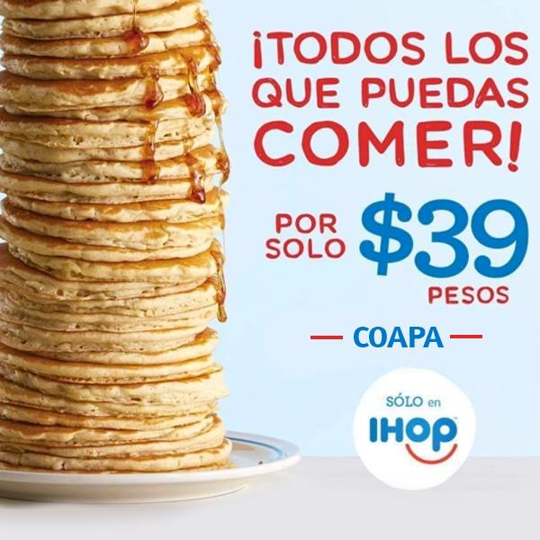 IHOP: Coapa todos los buttermilk pancakes que puedas comer por $39.00