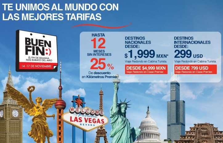 Promociones del Buen Fin 2014 en Aeroméxico