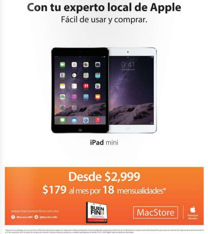 Ofertas del Buen Fin 2014 en MacStore: iPad Mini $2,999