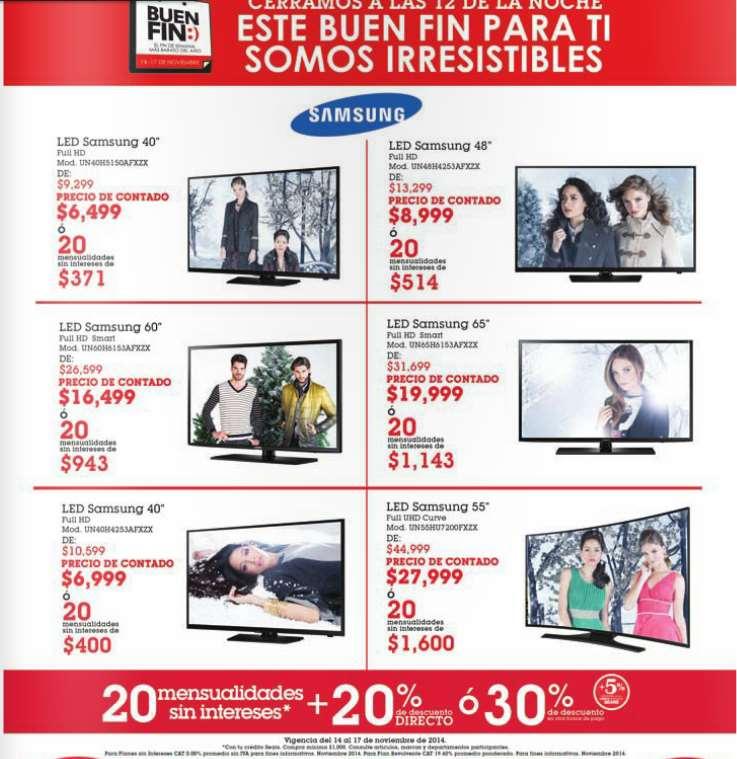 Ofertas del Buen Fin en Sears de televisiones