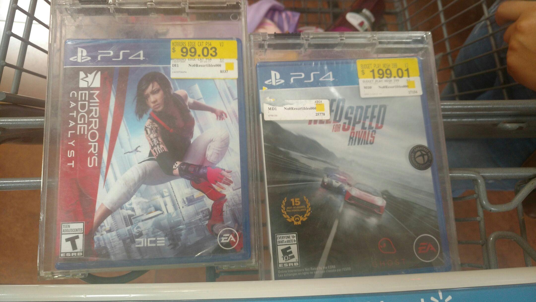 Walmart gran patio: mirror edge catalyst para PS4 a solo $99.03