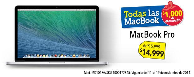 Ofertas del Buen Fin en Best Buy: Macbook Pro 15 mil + cupones + bonificación Banamex