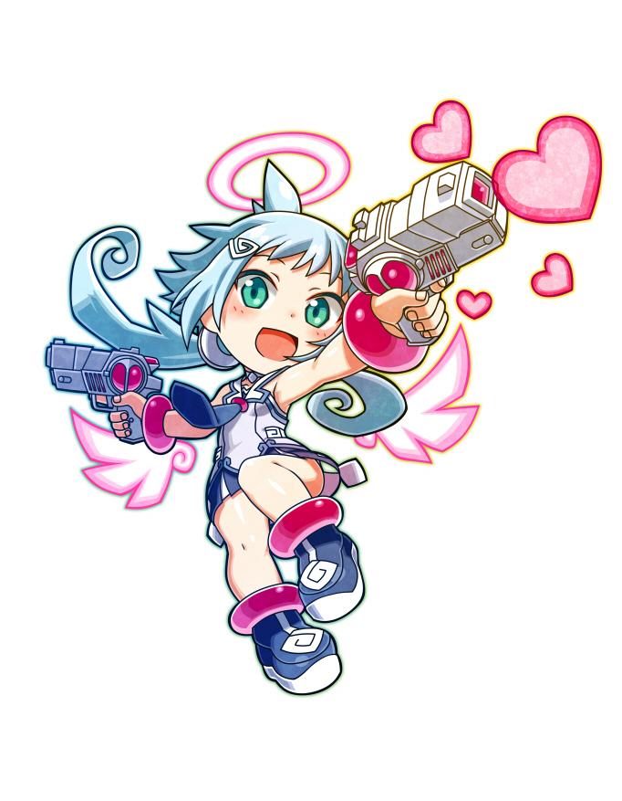 Ekoro como personaje descargable dentro del juego Mighty Gunvolt Burst (Nintendo Switch/Nintendo 3DS).