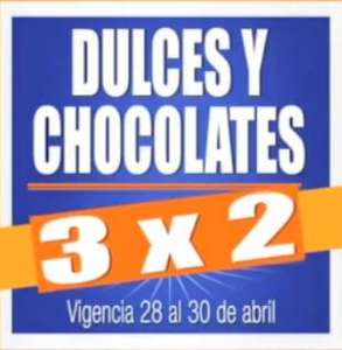 Chedraui: 3x2 en todos los dulces y chocolates