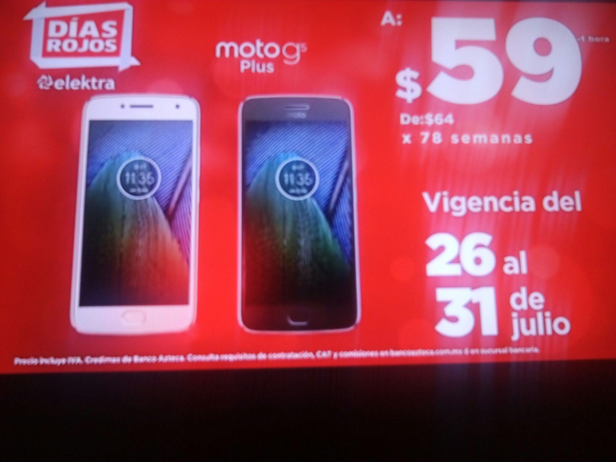 Elektra: Moto G5 PLUS a 78 semanas de $59