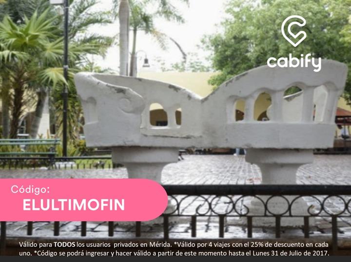 Cabify Mérida: 4 viajes con 25% de descuento usuarios existentes y nuevos