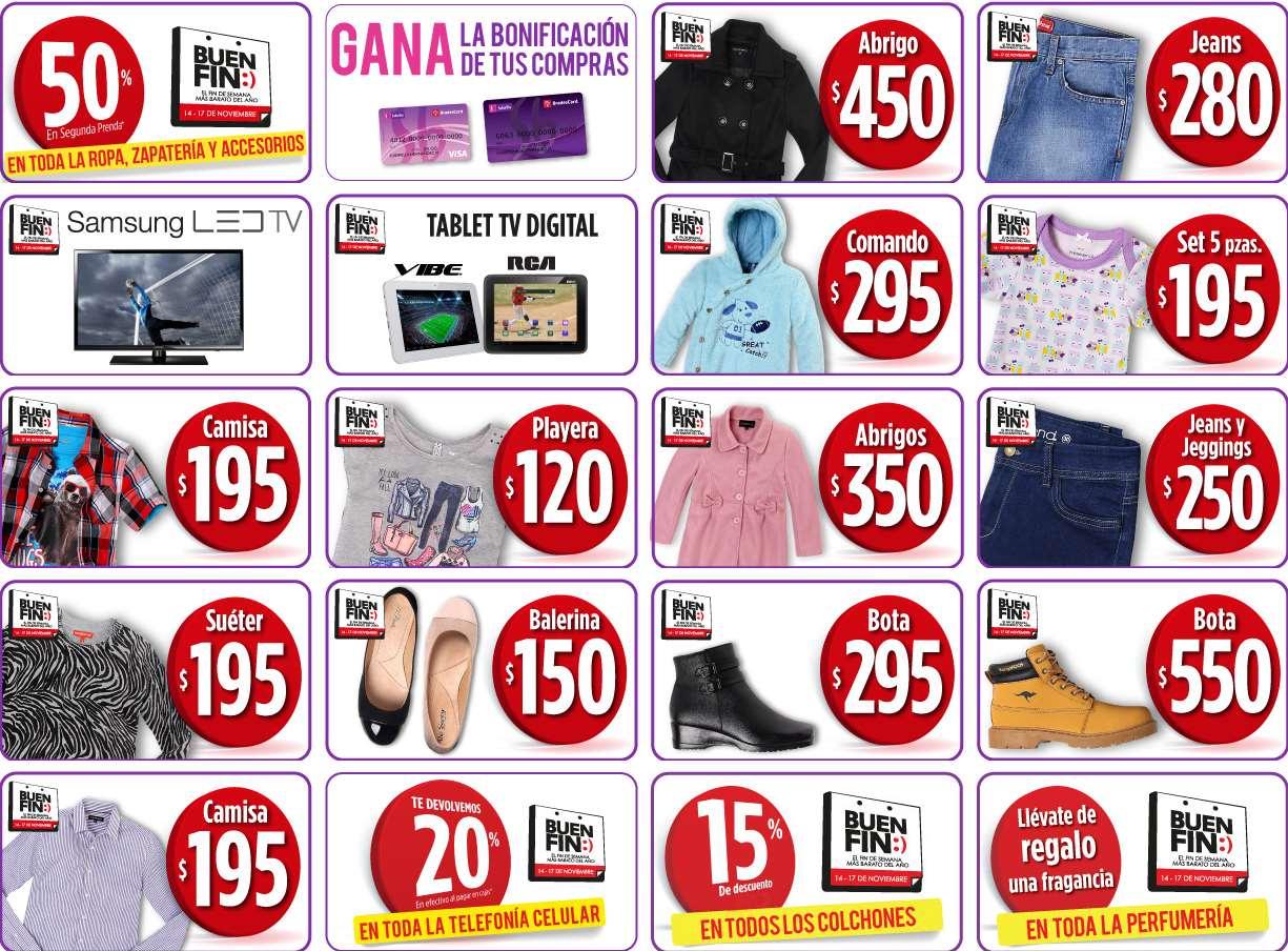 Promociones del Buen Fin 2014 en Suburbia: 2x1 y medio en toda la ropa, calzado y accesorios