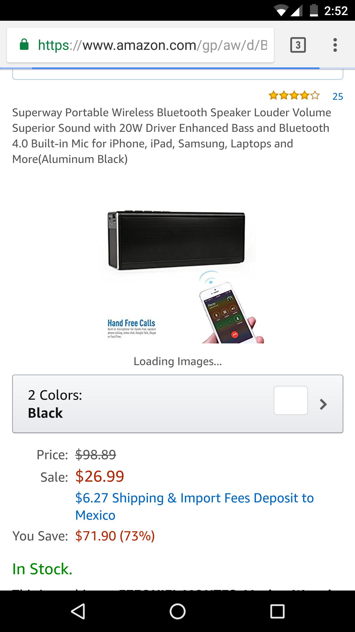 Amazon: Una bocina excelente, a precio inmejorable. Superway