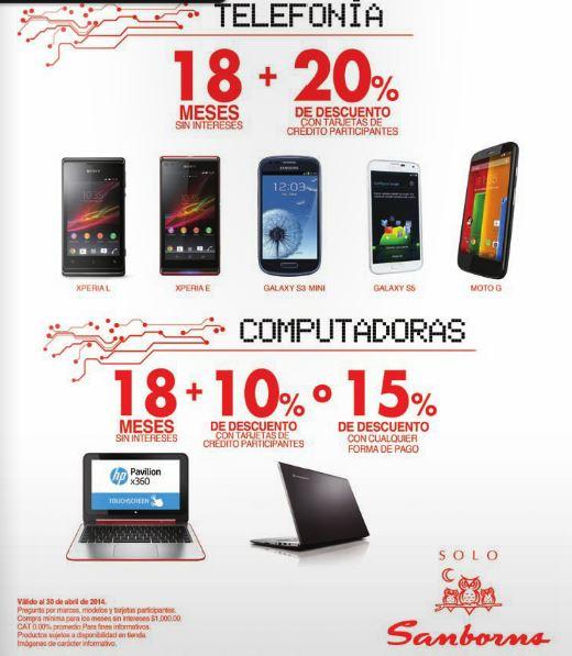 Sanborns: 20% de descuento y 12 meses sin intereses en celulares