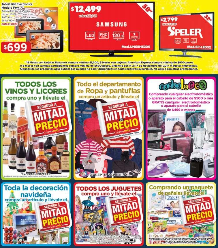 Ofertas del Buen Fin 2014 en HEB: 2x1 y medio en juguetes, pañales, vinos y licores, ropa y más