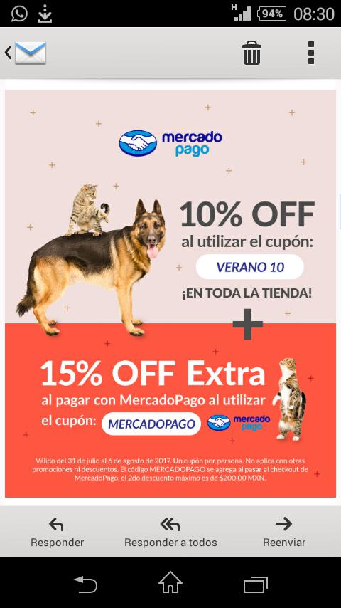 Petsy: 10% cupón en toda la tienda + 15% pagando con mercado pago