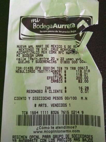 Bodega Aurrerá: Nebulizador Sunshine a $118.01