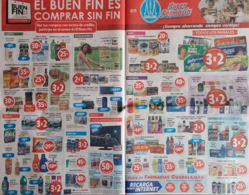 Ofertas del Buen Fin 2014 en Farmacias Guadalajara: 3x2 en pañales, 2x1 en fotos y más