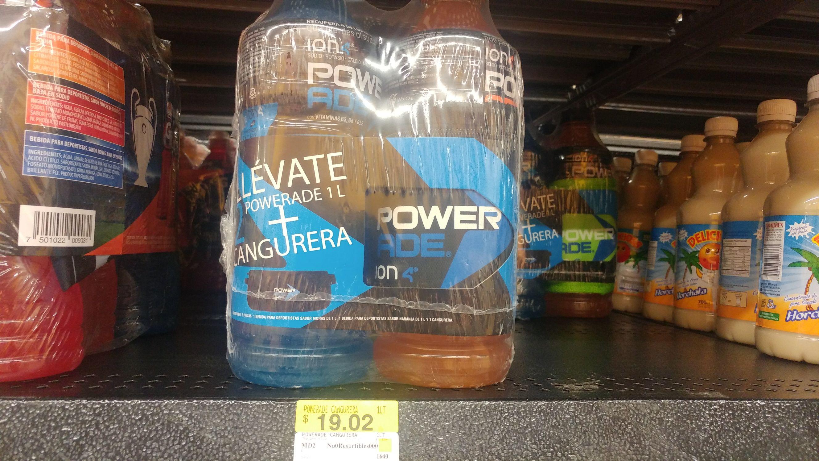Walmart: 2 Powerade 1lt c/ cangurera