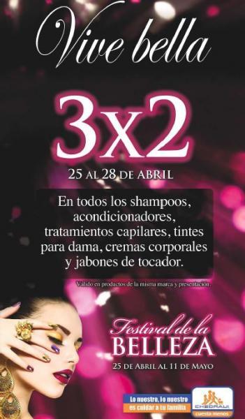 Chedraui: 3x2 en tintes, shampoos, acondicionadores, cremas, jabones y más