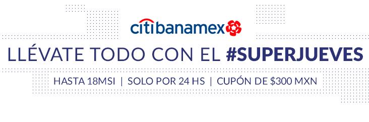 MercadoLibre: SUPERJUEVES BANAMEX, $300 de descuento en compras mínimas de $1,000 pagando con CitiBanamex (artículos seleccionados)