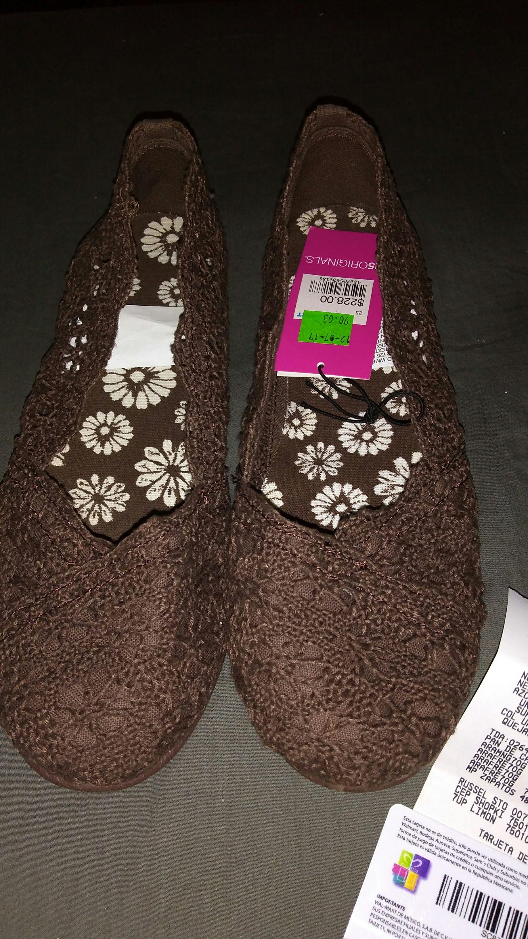 Walmart: zapatos tipo Balerina tejida cafe