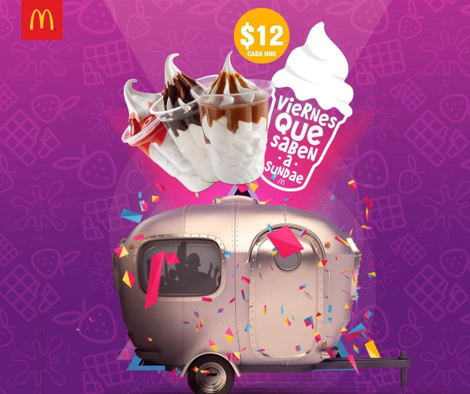 McDonald's: sundae a $12 mañana viernes