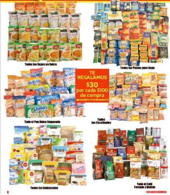 Folleto de ofertas del Buen Fin 2014 en Comercial Mexicana (incluye descuentos en abarrotes)