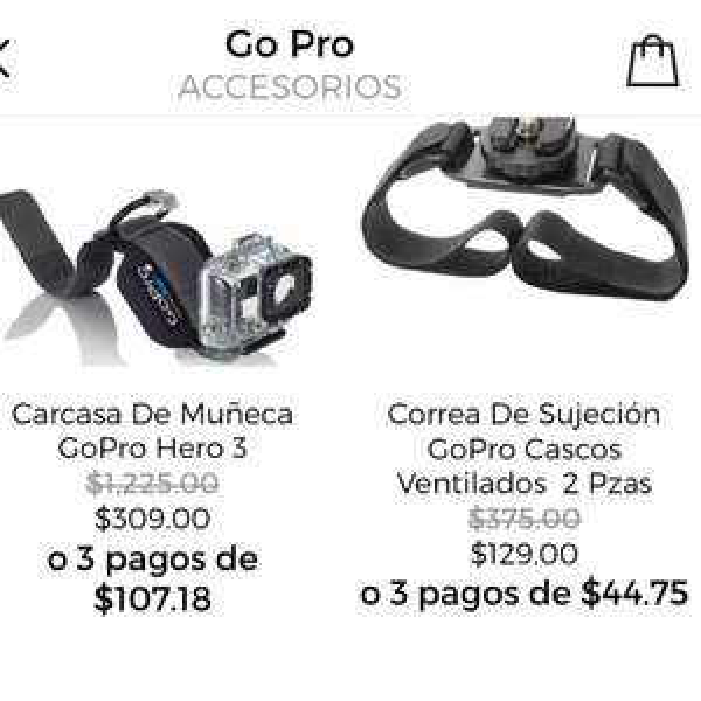 Privalia: Carcasa de Muñeca GoPro en $309 y más