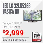 """Ofertas del Buen Fin en Elektra: TV LED LG 720P 32"""" Mod. 32LN536B $2,999"""