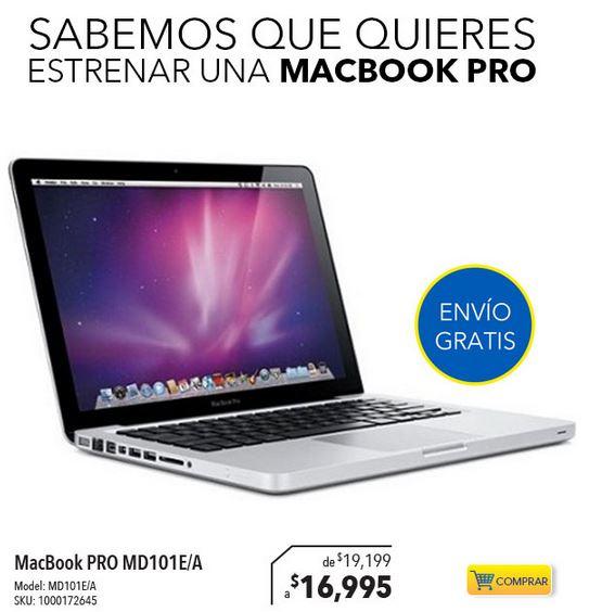 Best Buy y Sears: MacBook Pro MD101E/A $16,995