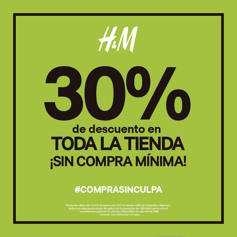 H&M: 30% de descuento en TODA la Tienda.